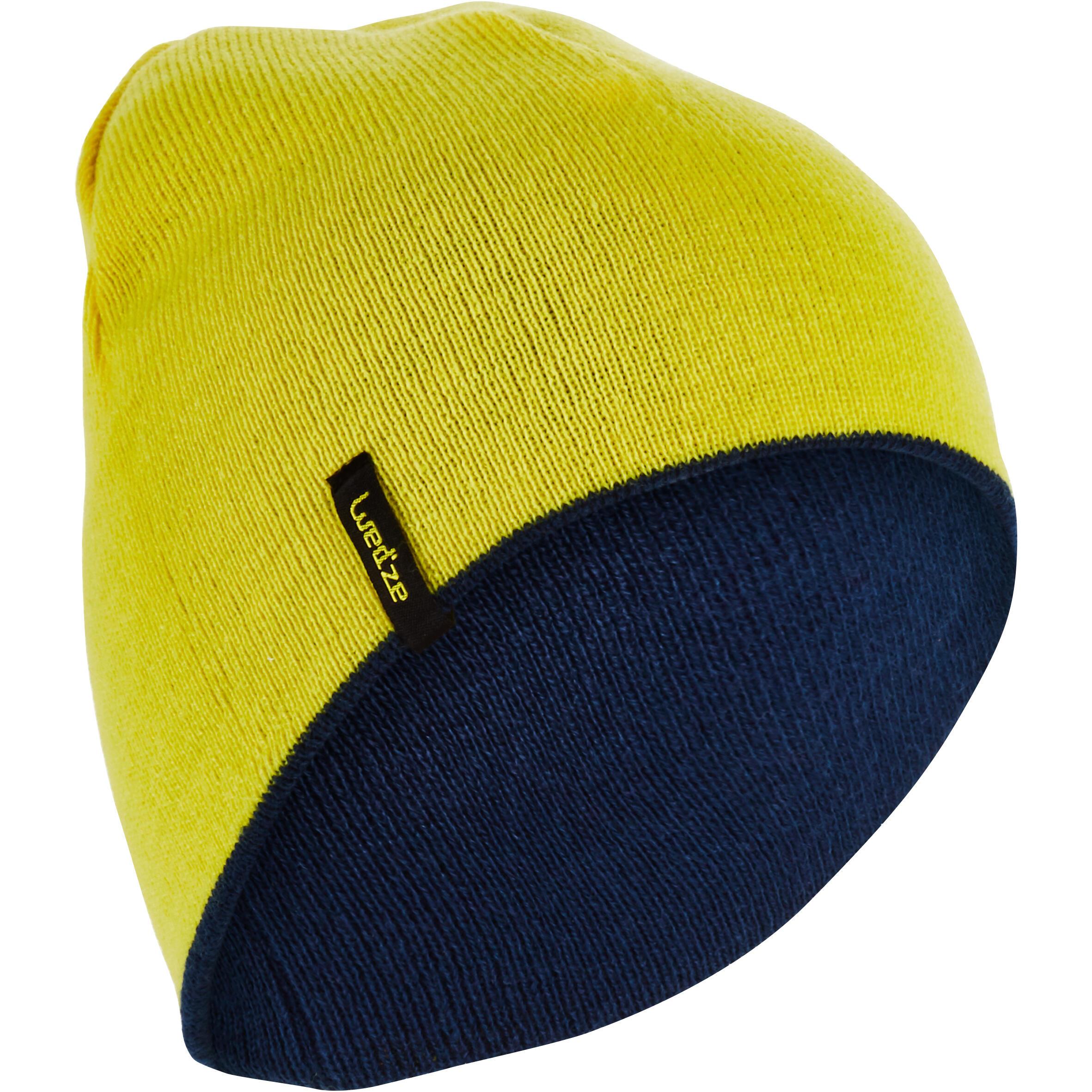 Reverse Adult Ski Hat - Yellow Blue