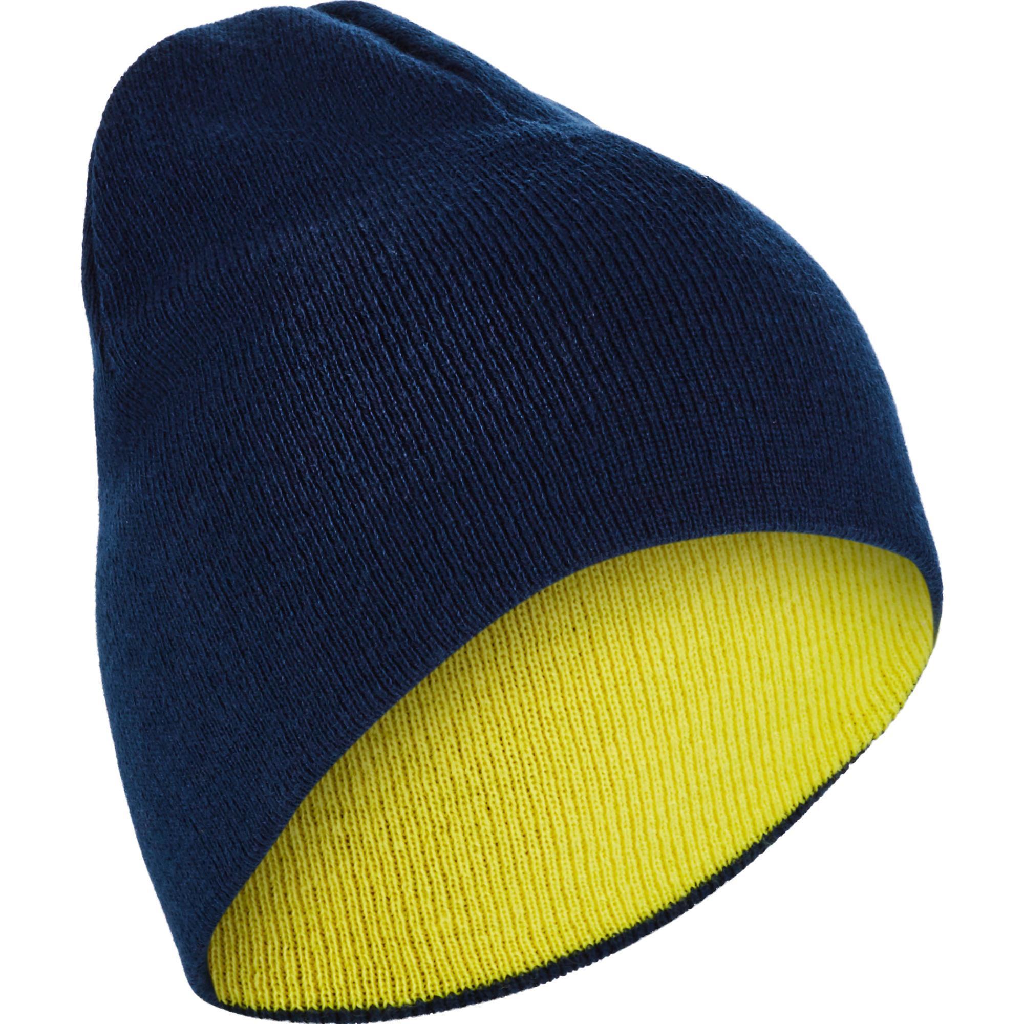 Skimütze wendbar Erwachsene gelb/blau