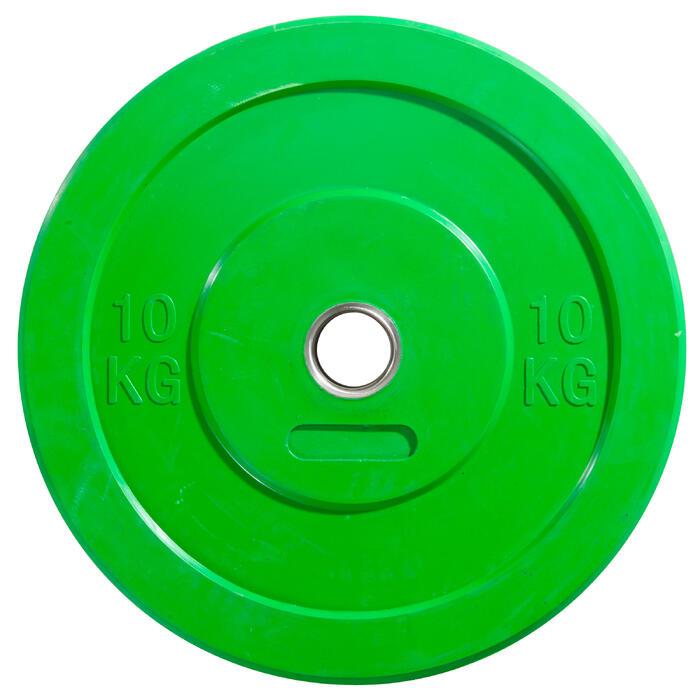 Hantelscheibe Bumper Plate 10 kg grün
