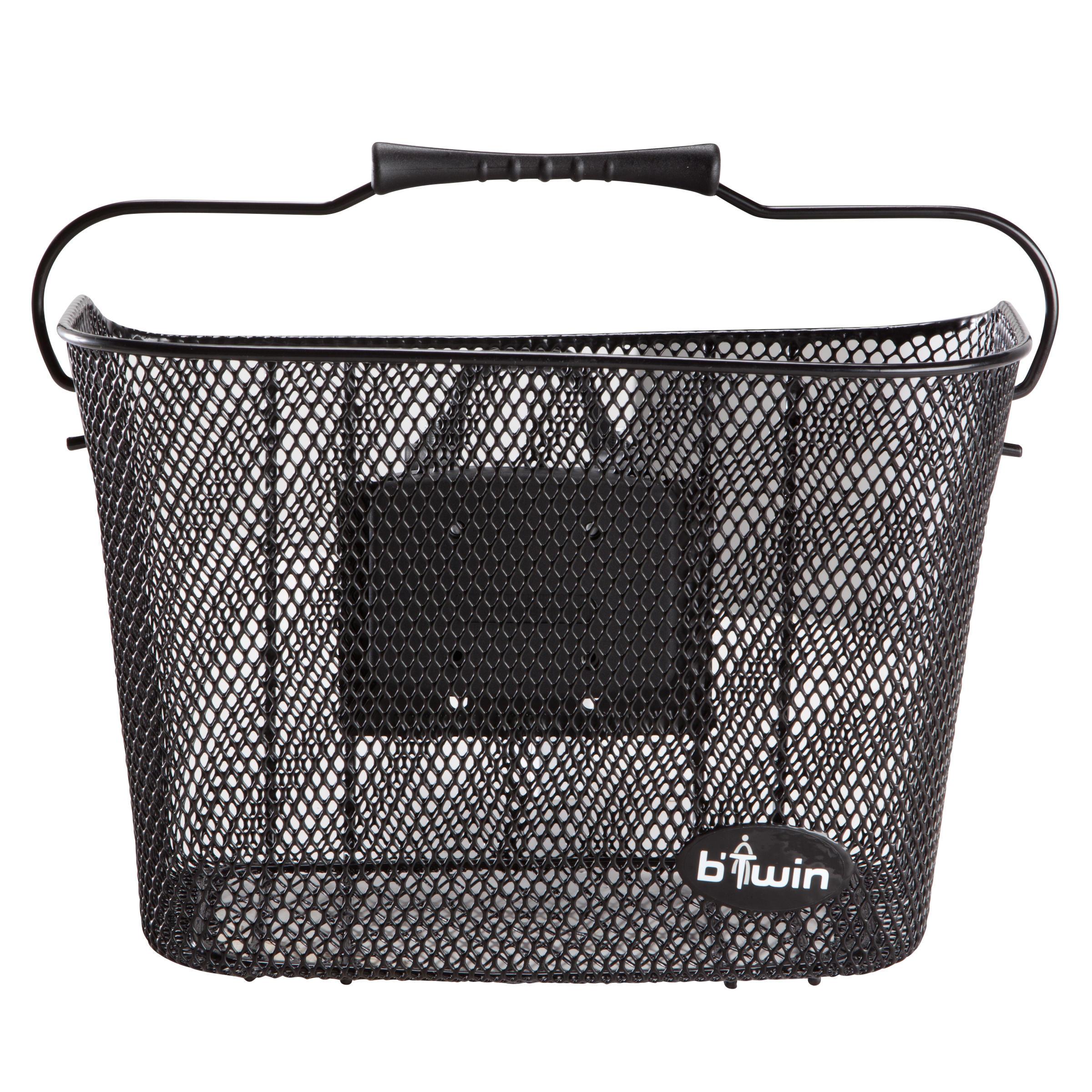 Metal Kids' Bike Basket - Black