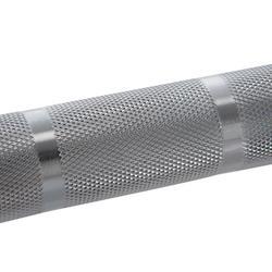 Barra Halterofilia Musculación Domyos 20Kg Discos 50mm Agarre 28mm