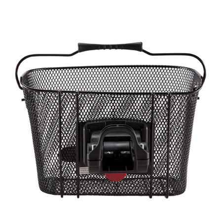 Metal Kids' Bike Basket - Black