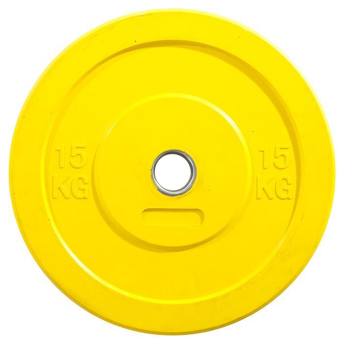DISQUE BUMPER 15KG JAUNE - 1246727