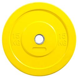 Hantelscheibe Bumper Plate O'Fitness 15 kg gelb