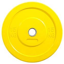 Schijf Bumper 15 kg geel