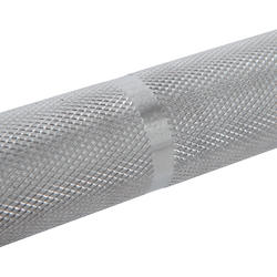 Barra Halterofilia Musculación Domyos 15Kg Discos 50mm Agarre 25mm