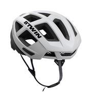 Bela in črna kolesarska čelada AEROFIT 900