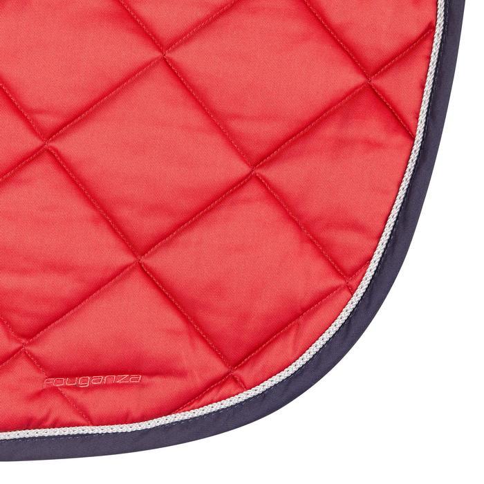 Mantilla Equitación Fouganza 540 Caballo Rojo Revestimiento Silicona