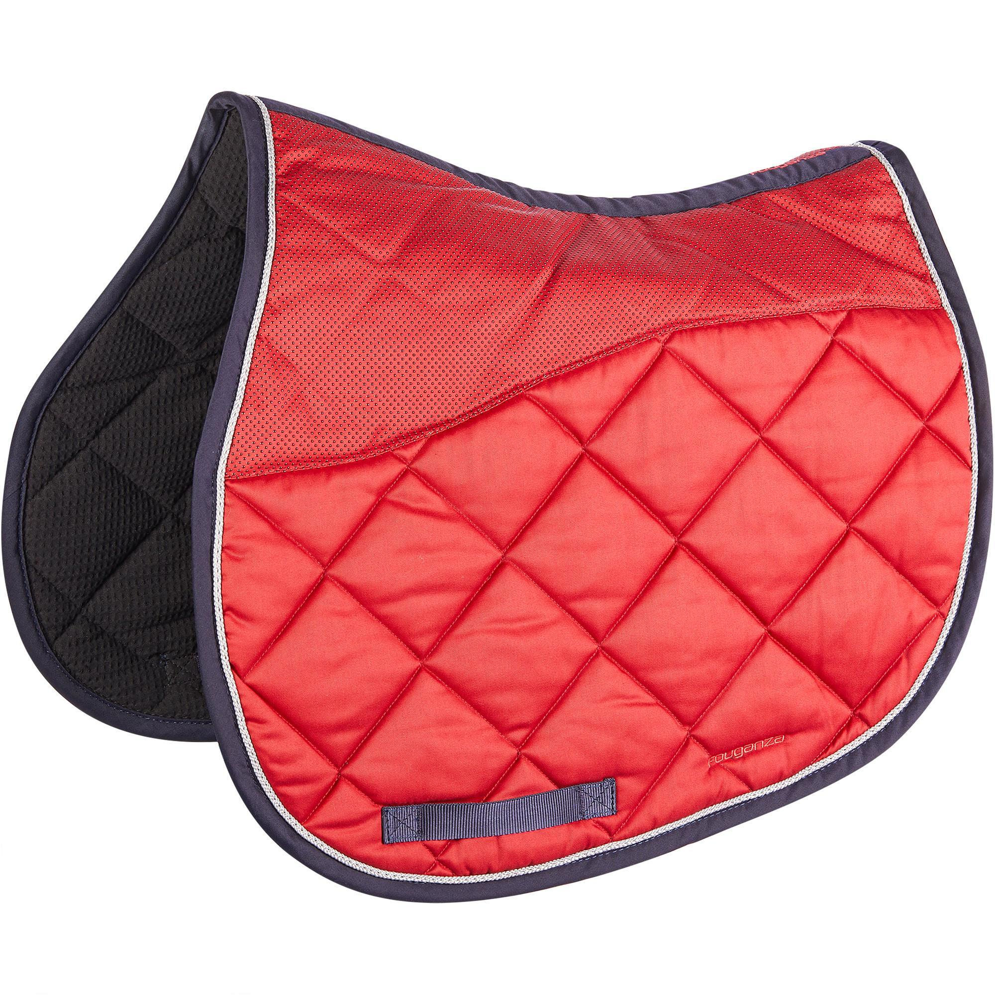 tapis de selle equitation cheval 540 rouge fouganza With tapis d équitation rouge