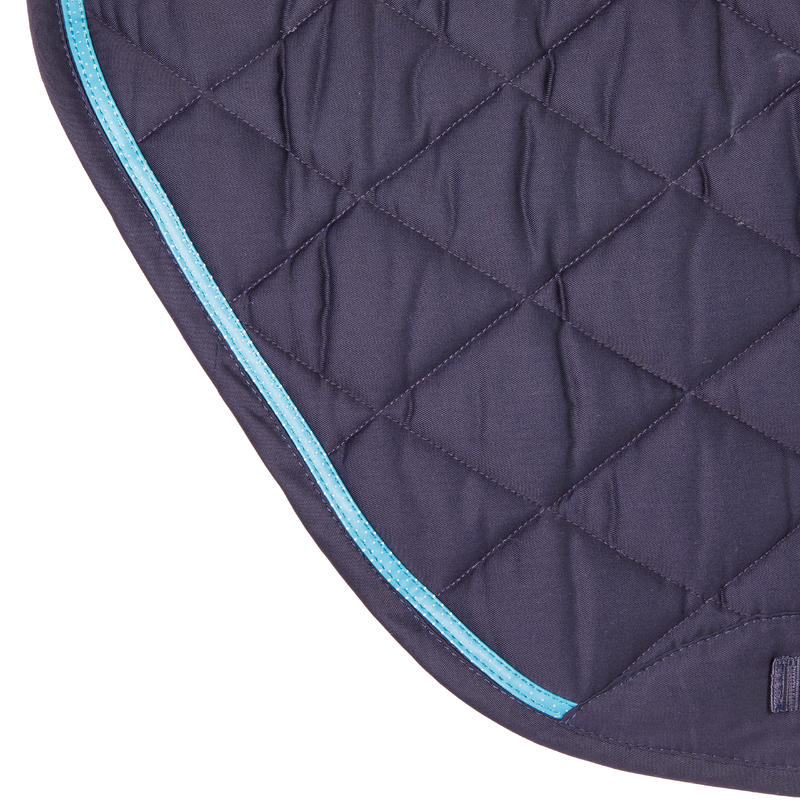 580 Horse Riding Saddle Cloth for Horse and Pony - Navy Blue