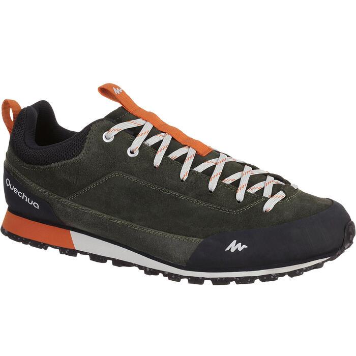 Wandelschoenen voor heren NH500 kaki/oranje