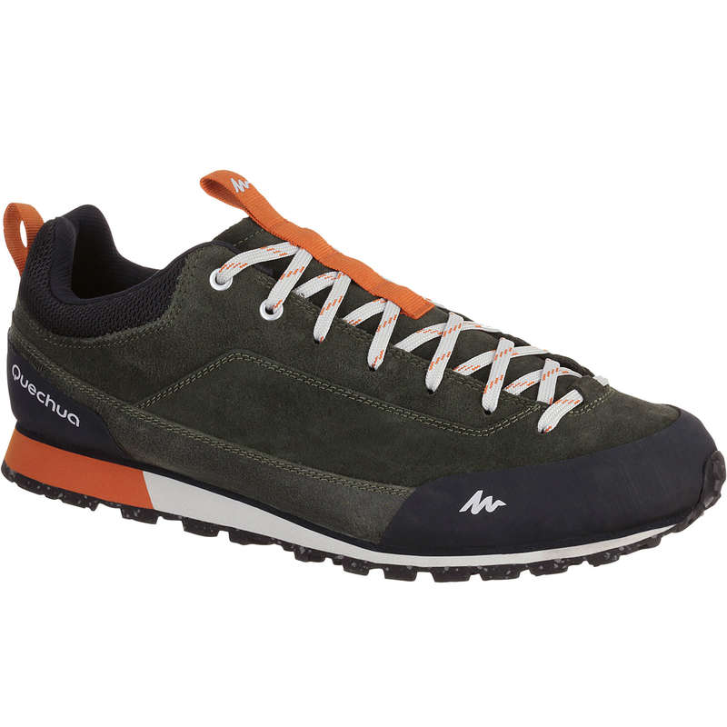 MEN NATURE HIKING SHOES - NH500 Mens Walking Shoes - Khaki QUECHUA