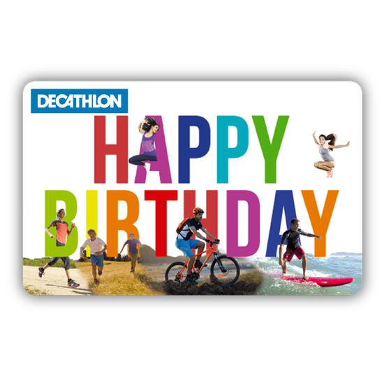 Carte cadeau anniversaire