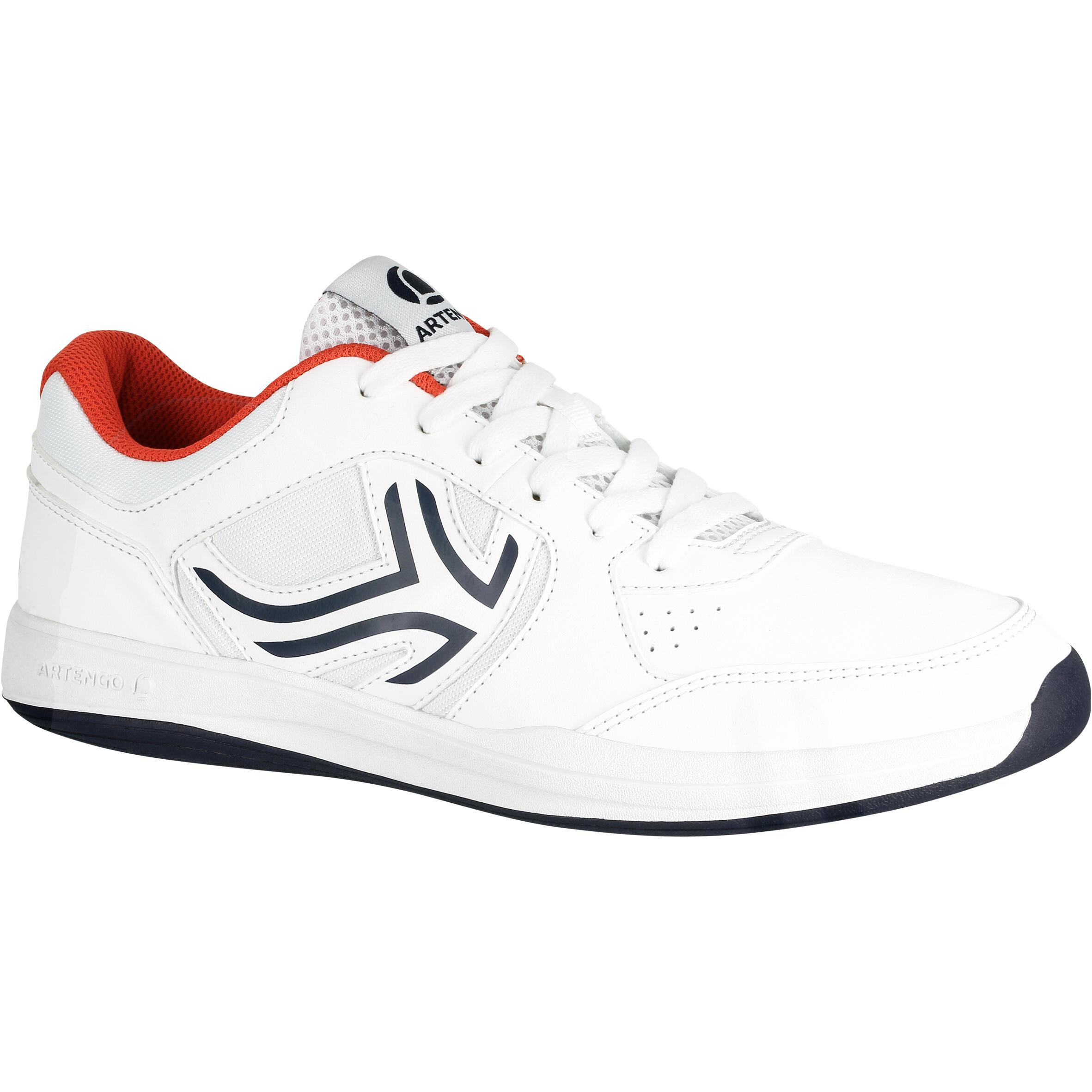 Tennisschuhe TS130 Multicourt Herren weiß | Schuhe > Sportschuhe > Tennisschuhe | Weiß - Rot | Artengo