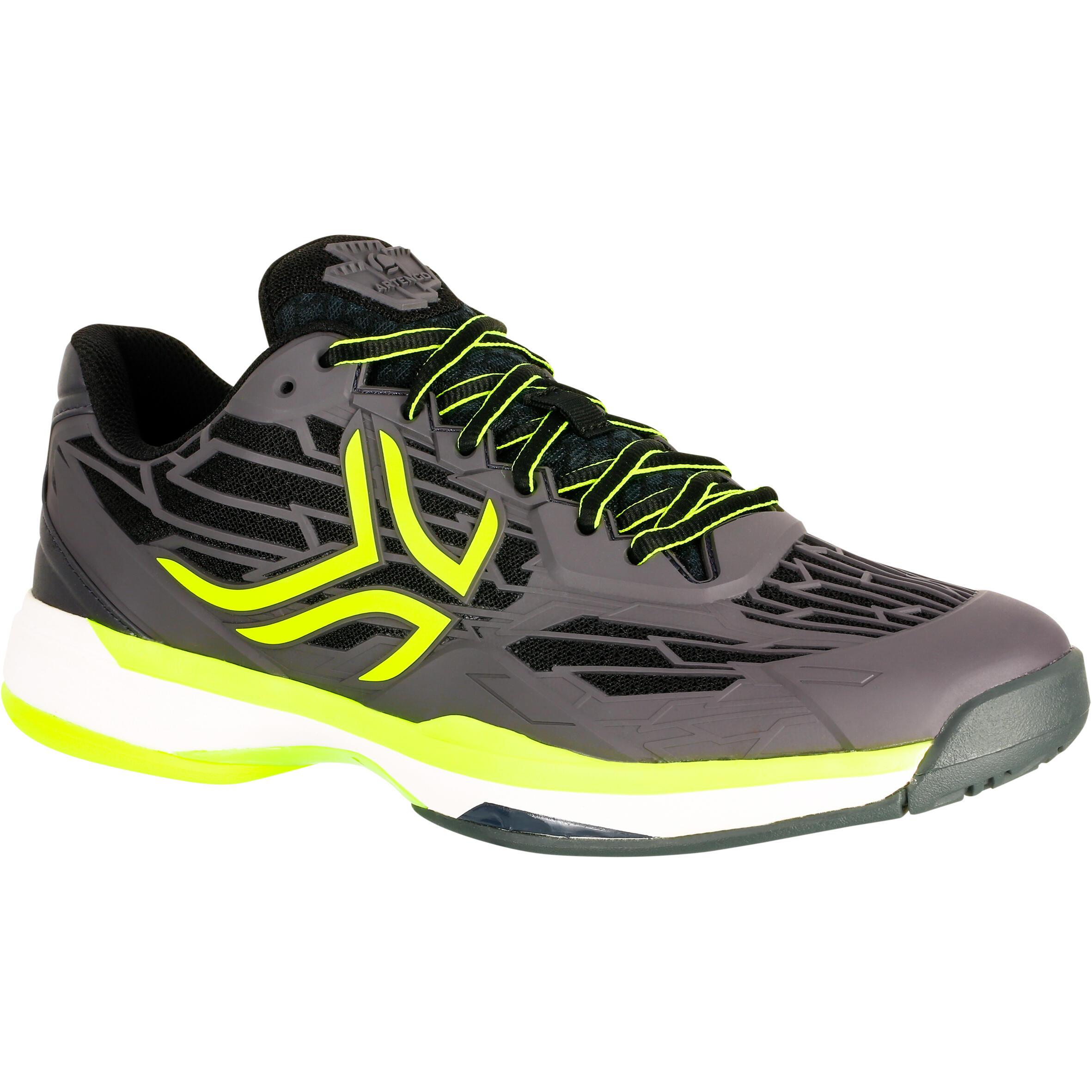 Chaussures de tennis homme ts990 noir jaune terre battue artengo