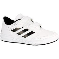 Tennisschoenen kinderen Adidas Altasport wit/zwart