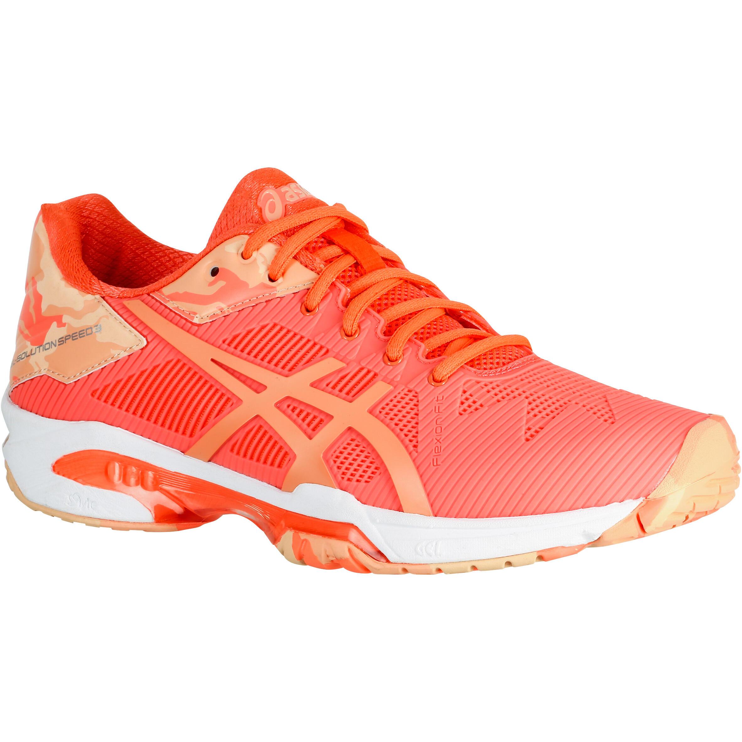 2405424 Asics Dames tennisschoenen Gel Solution Flash oranje
