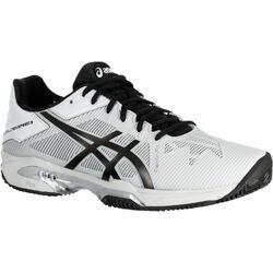 Tennisschoenen heren Gel Solution Speed 3 gravel lichtgrijs