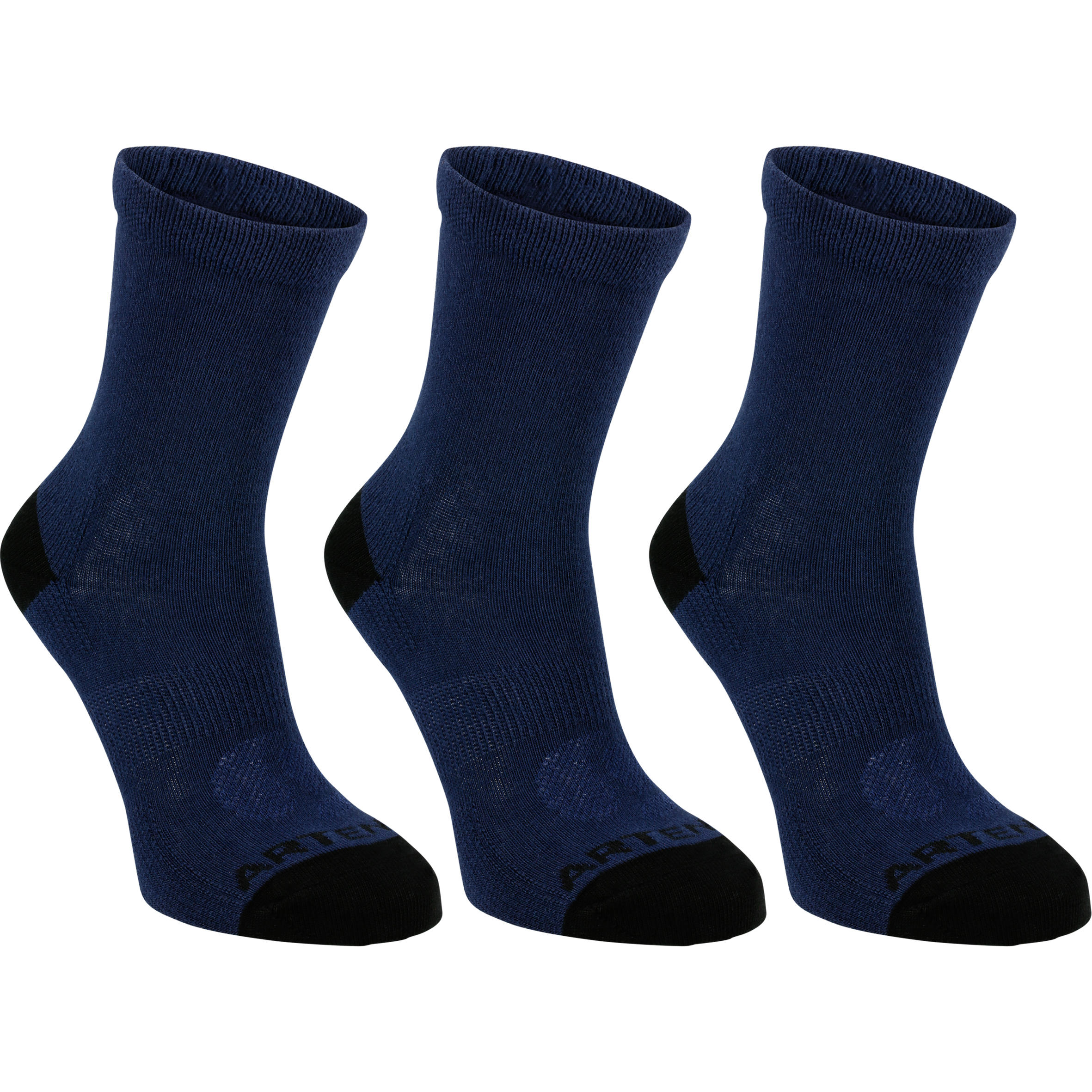 RS 160 Kids' High Sport Socks 3-Pack - Navy Blue