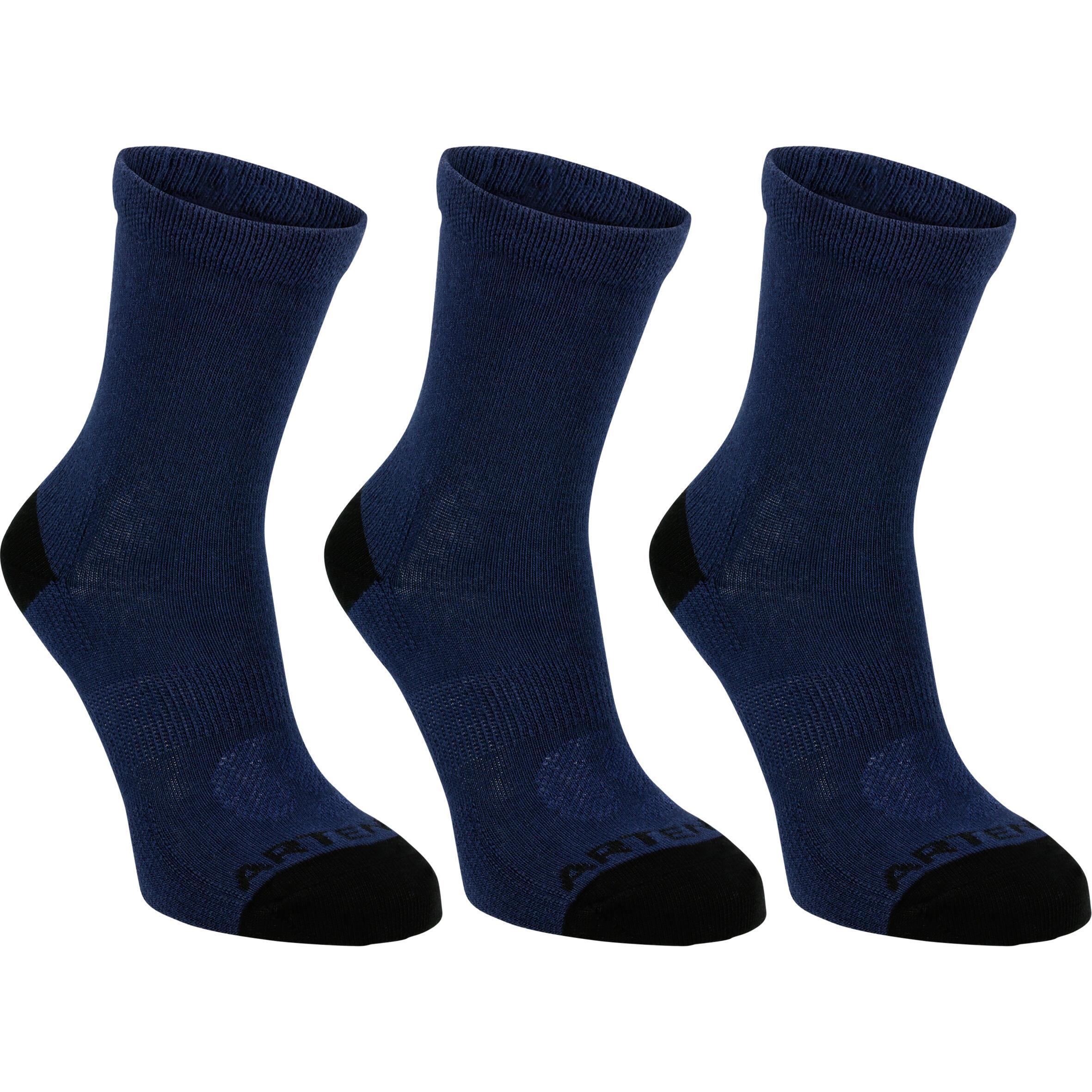 Artengo Hoge sportsokken kinderen Artengo RS�160 marineblauw 3 paar