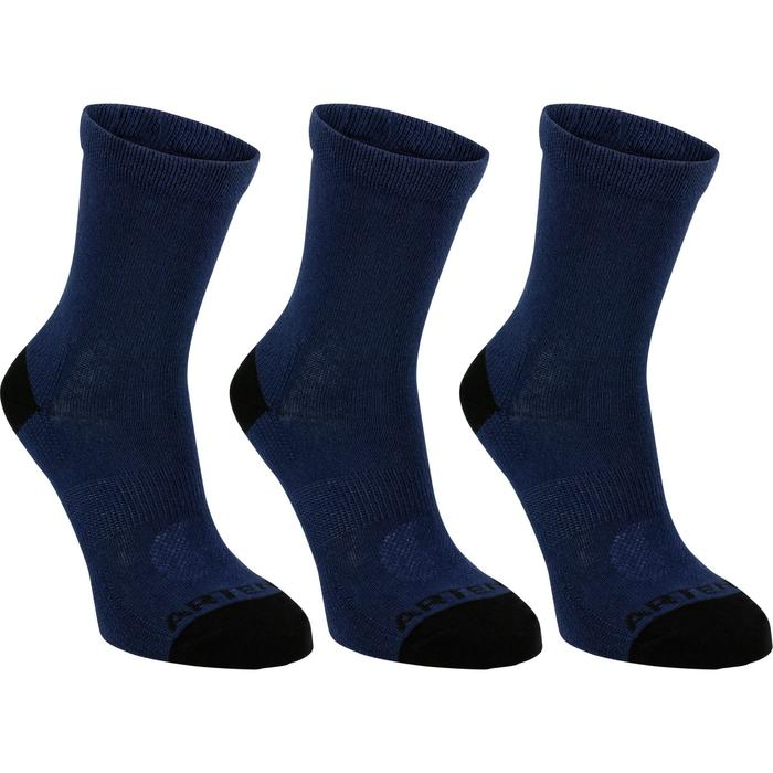 Tennissocken Sportsocken RS 160 High 3er Pack Kinder marineblau