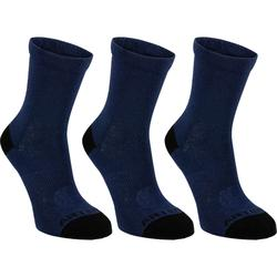 CHAUSSETTES DE SPORT JUNIOR HAUTES ARTENGO RS 160 MARINES LOT DE 3