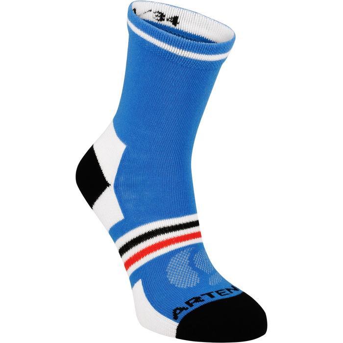 Halfhoge sportsokken voor kinderen Artengo RS 160 wit/blauw 3 paar - 1247512