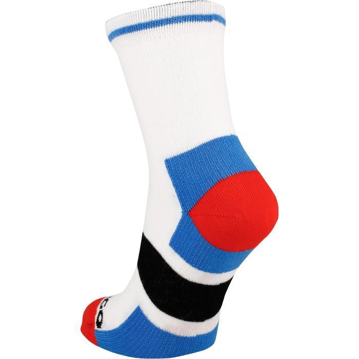 Halfhoge sportsokken voor kinderen Artengo RS 160 wit/blauw 3 paar - 1247515