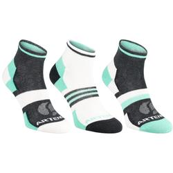 RS 160 Adult Mid-High Sports Socks Tri-Pack - White