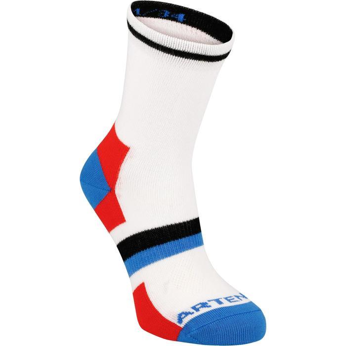 Halfhoge sportsokken voor kinderen Artengo RS 160 wit/blauw 3 paar - 1247529
