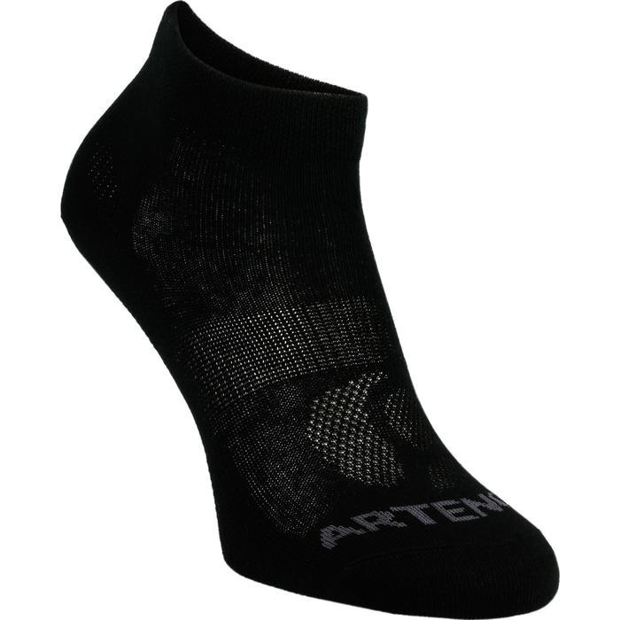3雙入中高筒網球運動襪RS 160-黑色