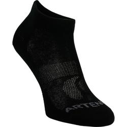 Halfhoge tennissokken Artengo RS 160 zwart set van 3 paar