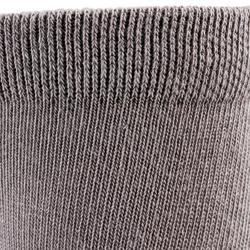 Halfhoge sportsokken voor kinderen Artengo RS 160 grijs 3 paar