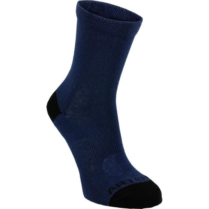 Hoge tennissokken voor kinderen RS 160 marineblauw 3 paar