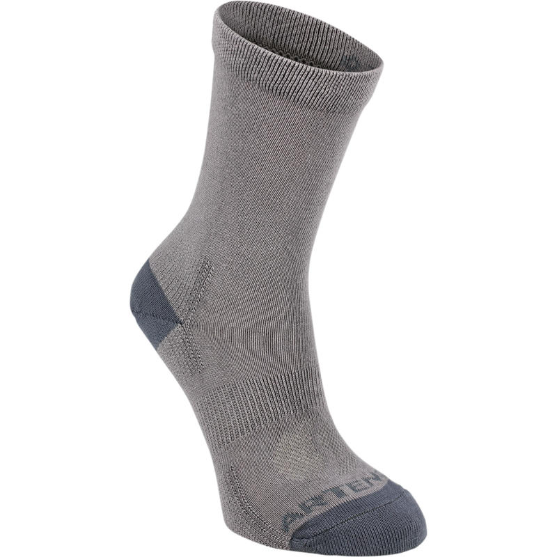 CALCETINES DE DEPORTE JUNIOR LARGOS ARTENGO RS 160 GRIS PACK DE 3