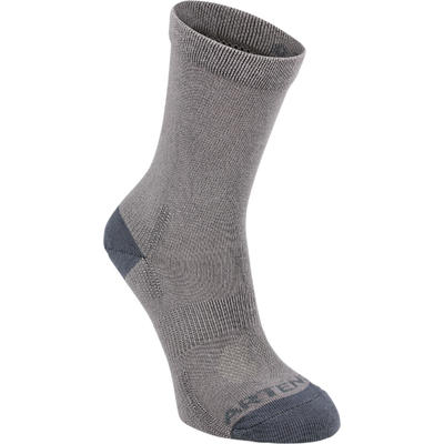 Дитячі високі шкарпетки 160 для тенісу, 3 пари - сірі