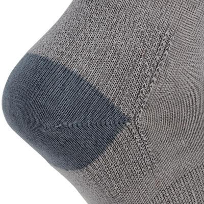 Kids' Mid Tennis Socks RS 160 Tri-Pack - Grey