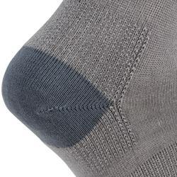 Halfhoge sportsokken voor volwassenen Artengo RS 160 grijs 3 paar
