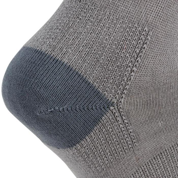 Halfhoge tennissokken voor kinderen RS 160 grijs 3 paar