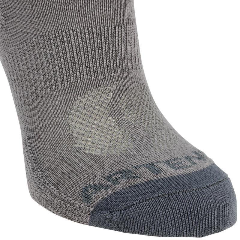 Kids' Mid Tennis Socks Tri-Pack RS 160 - Grey