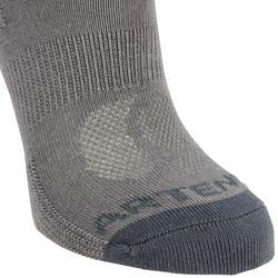 兒童款3雙入中筒網球襪RS 160-深灰