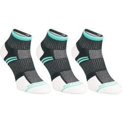 RS 500 中筒襪三雙包 - 灰色/綠色
