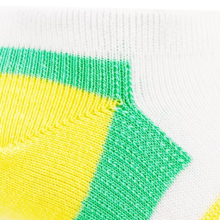 Lage sportsokken voor kinderen Artengo RS 160 geel/groen 3 paar