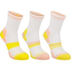 RS 160 Junior High Sports Socks Tri-Pack - Pink/Yellow