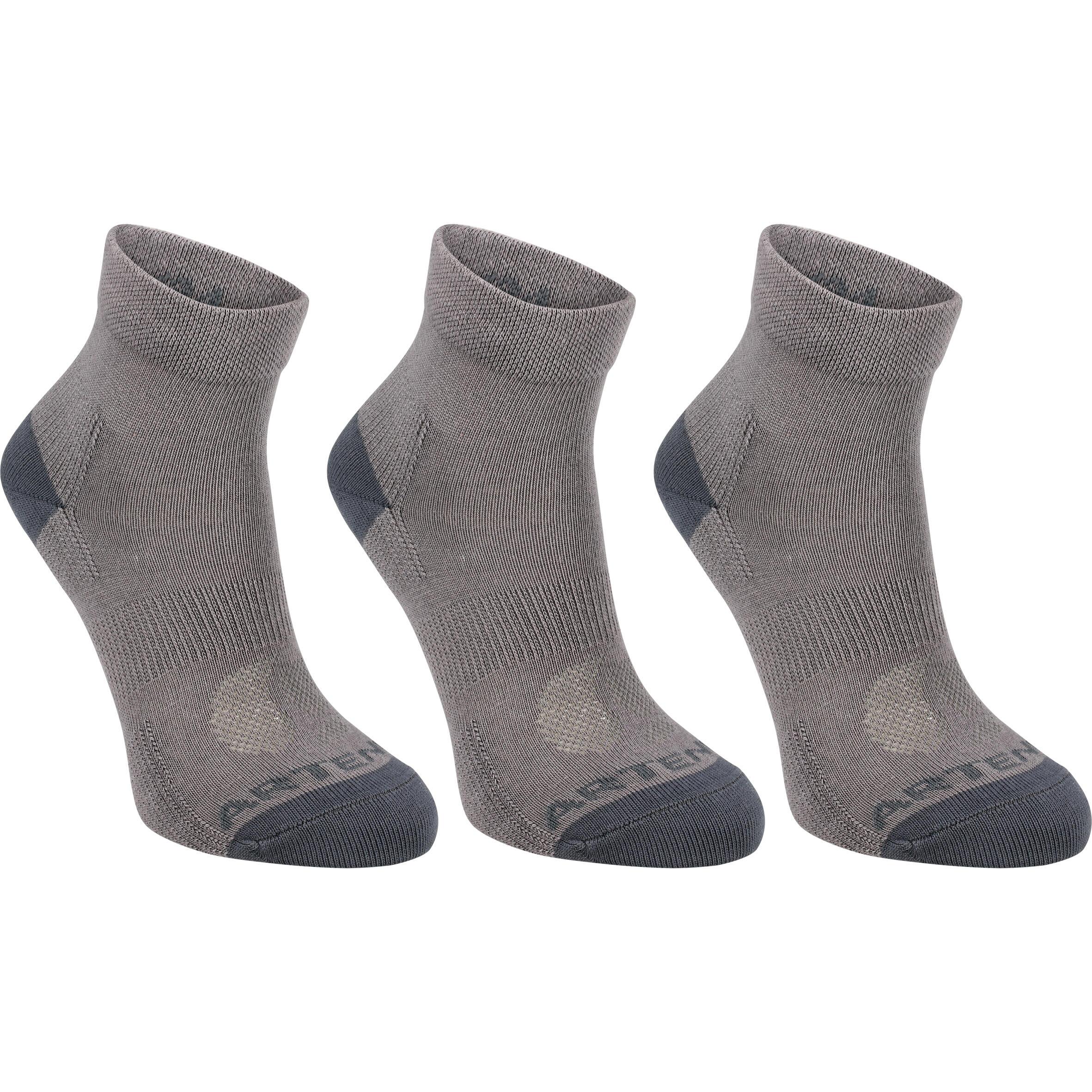 Artengo Halfhoge sportsokken voor volwassenen Artengo RS 160 grijs 3 paar