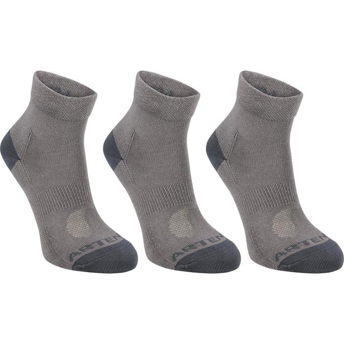 RS 160 Kids' Mid Sport Socks Tri-Pack - Grey