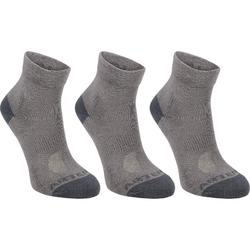 CHAUSSETTES DE SPORT JUNIOR MI-HAUTES ARTENGO RS 160 MARINES LOT DE 3