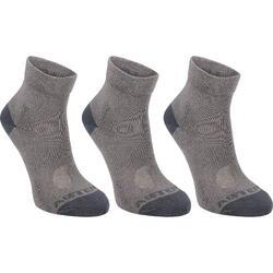 RS 160兒童中筒襪三雙包 - 灰色