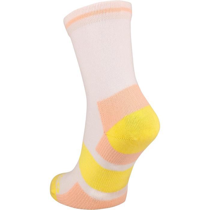 Hoge sportsokken voor kinderen Artengo RS 160 roze/geel 3 paar