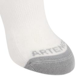 Kids' Mid Tennis Socks RS 160 Tri-Pack - White